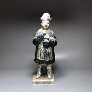 明 三彩人物陶俑一件