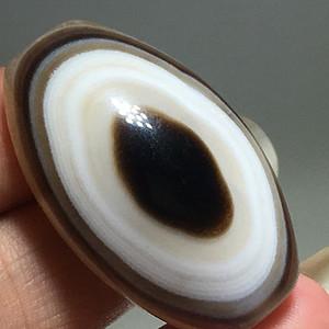 民国 玛瑙 单眼 珠花纹漂亮 风化清晰 包浆自然