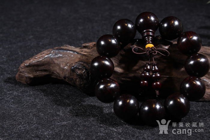 野生林老料印度小叶紫檀2.0金星手串图3