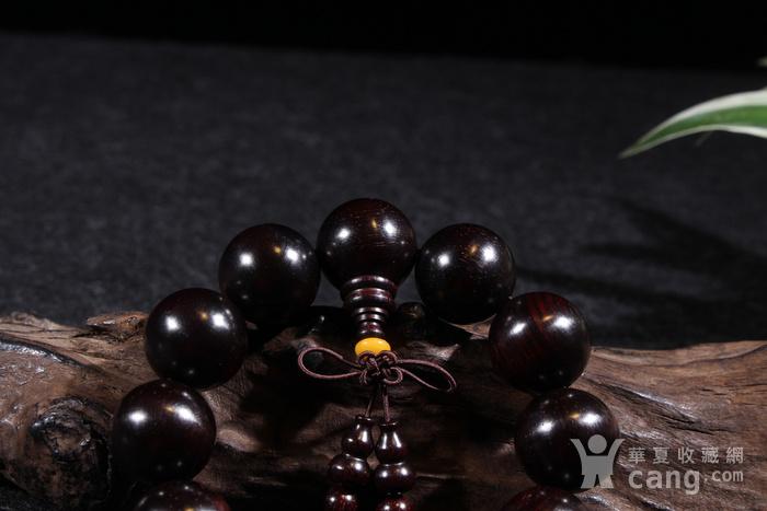 野生林老料印度小叶紫檀2.0金星手串图4