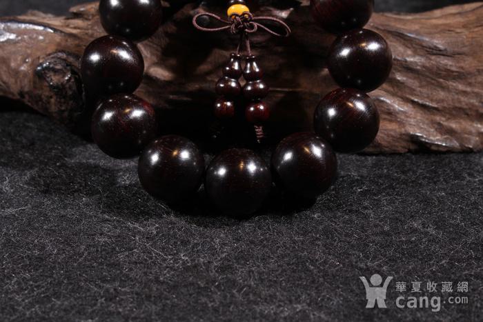 野生林老料印度小叶紫檀2.0金星手串图5