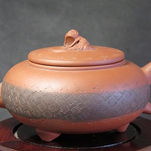 清代红记款三兽蠡龙紫砂壶