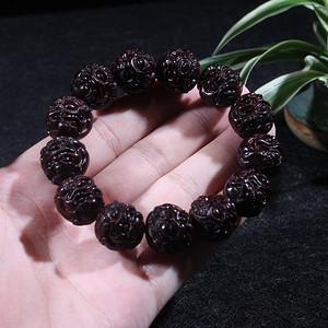 印度小叶紫檀1.8貔貅手串