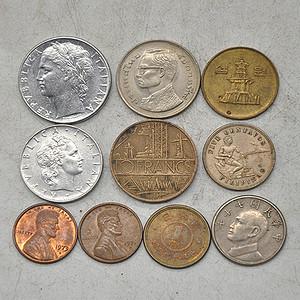 国外老钱币十枚