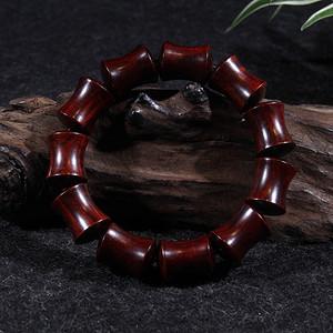 印度小叶紫檀15 20mm竹节手珠
