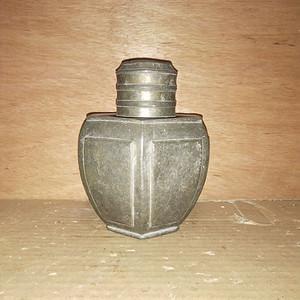 皮壳漂亮小锡罐一个茶叶罐