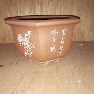 造型漂亮文革紫砂花盆