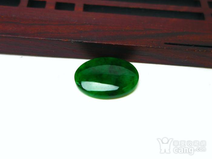 冰种辣绿戒指蛋面图3