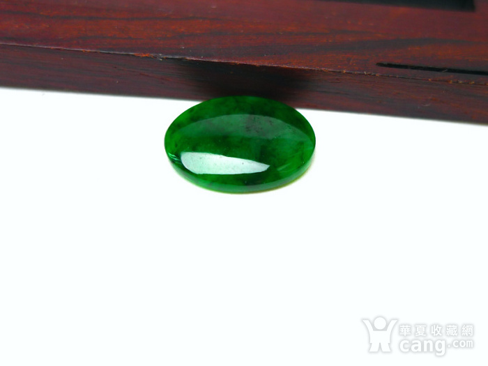 冰种辣绿戒指蛋面图2
