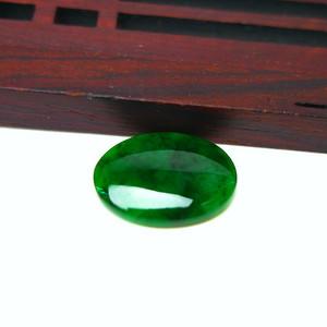 冰种辣绿戒指蛋面