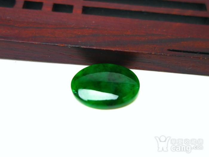 冰种辣绿戒指蛋面图1
