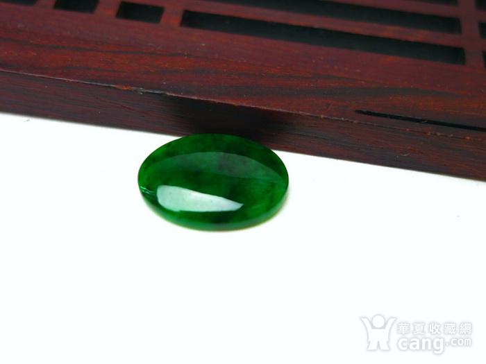 冰种辣绿戒指蛋面图5
