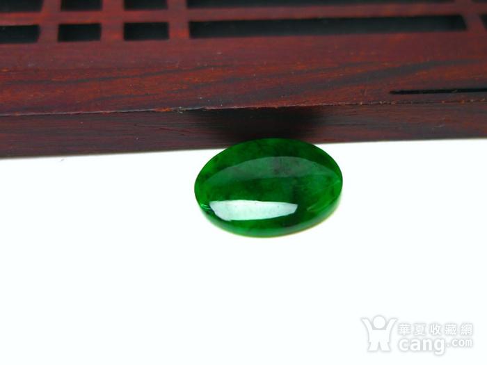 冰种辣绿戒指蛋面图4
