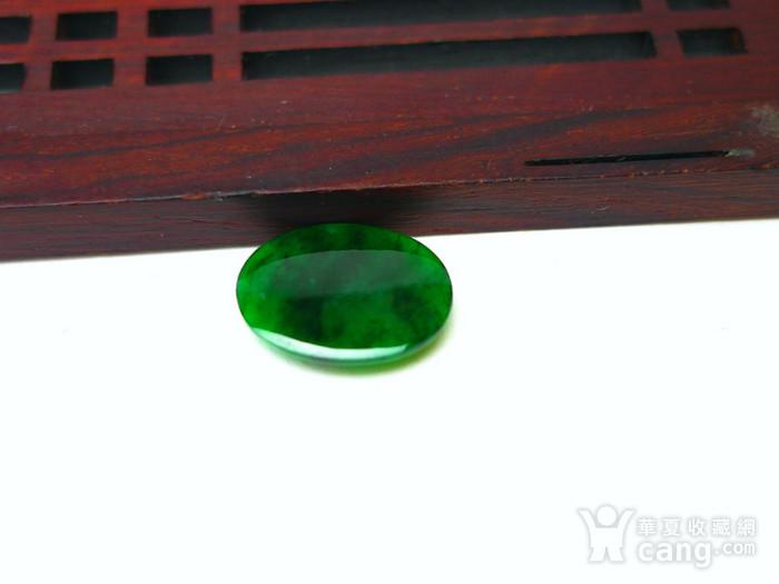 冰种辣绿戒指蛋面图7