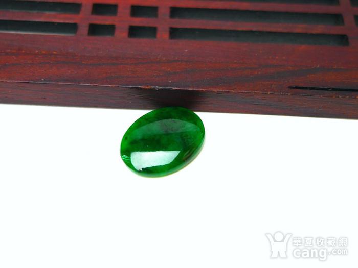 冰种辣绿戒指蛋面图8