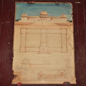 1953年革命历史陈列馆设计图