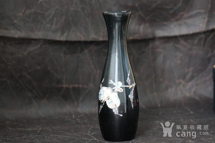 金牌 螺钿镶嵌黑漆花瓶图4
