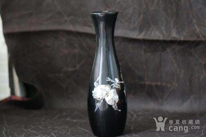 金牌 螺钿镶嵌黑漆花瓶图5