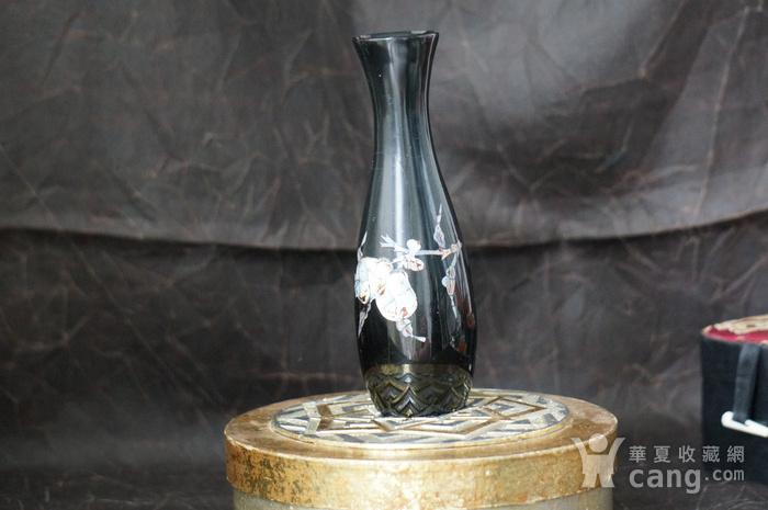 金牌 螺钿镶嵌黑漆花瓶图6
