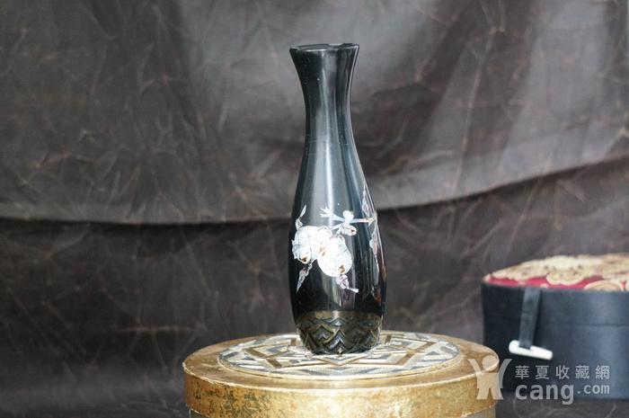 金牌 螺钿镶嵌黑漆花瓶图8