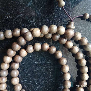 天然野生印尼加里曼丹沉香佛珠108颗手串