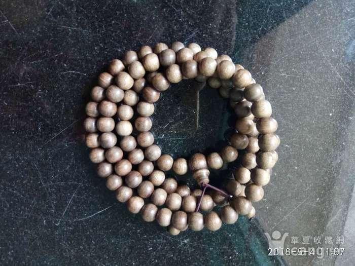 天然野生印尼加里曼丹沉香佛珠108颗手串图3