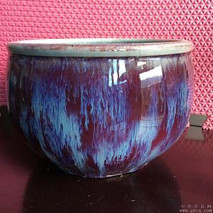 清窑变红釉小缸