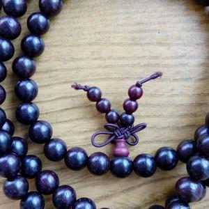 印度老料紫檀佛珠108手串