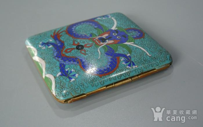清晚期铜胎掐丝龙纹烟盒图5