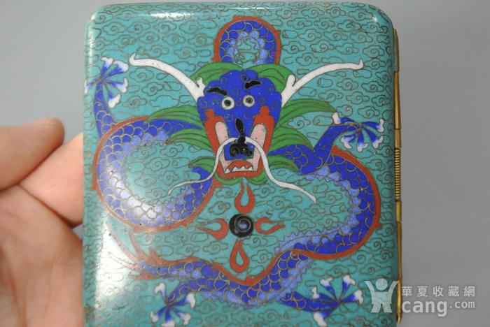清晚期铜胎掐丝龙纹烟盒图6
