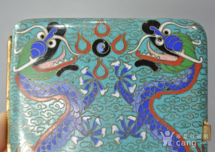清晚期铜胎掐丝龙纹烟盒图8