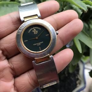 圣大保罗santa barbara原装正品包金石英表 二手表