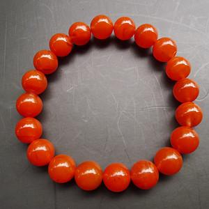 柿子红南红玛瑙手链