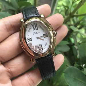 Golioni玫瑰金色石英手表