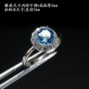 托帕石戒指 银镶嵌0005