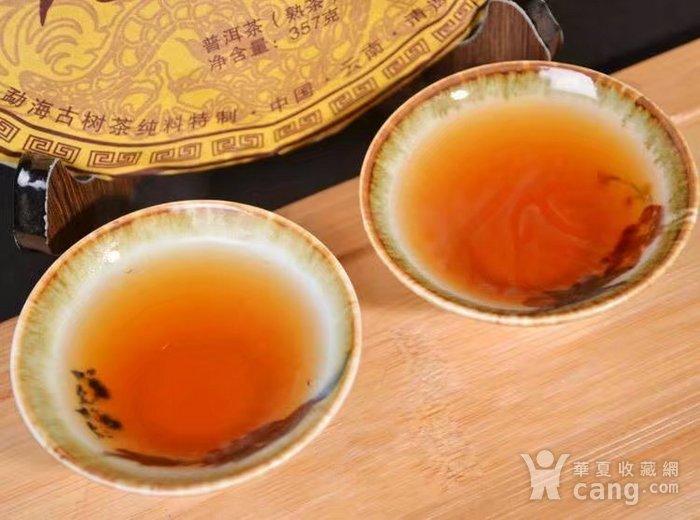 收藏品 十年珍藏版 云南普洱茶饼 勐海普洱茶熟茶357g特价七子饼茶一图8