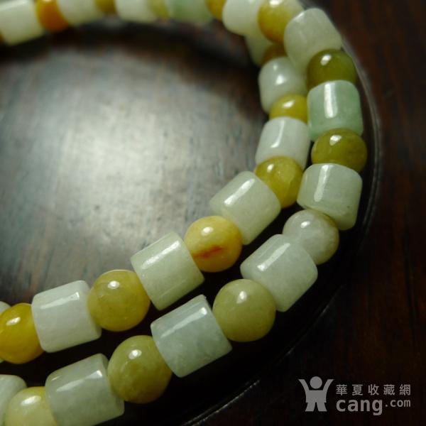 2条一起出 高品质黄翡多彩手链 天然A货翡翠图5