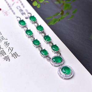 高端祖母绿项链