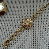 金牌 德国原产格拉苏蒂女士机械腕表 14K镀金,防水