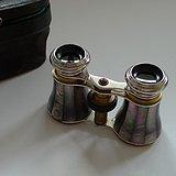 金牌 手工镶嵌螺钿 蚌壳歌剧望远镜