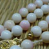 金牌 Momo天然粉白珊瑚圆珠项链