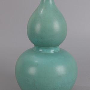 欧洲回流绿松石釉葫芦瓶