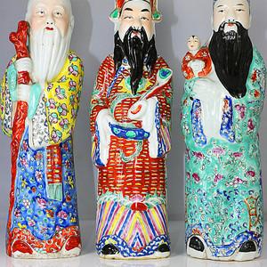 清福寿禄瓷塑像