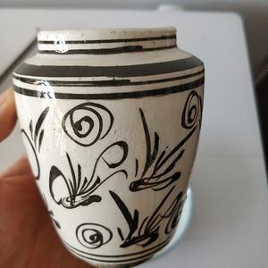 明磁州窑罐