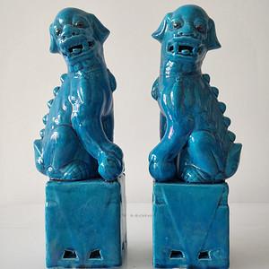 567大号蓝狮子一对