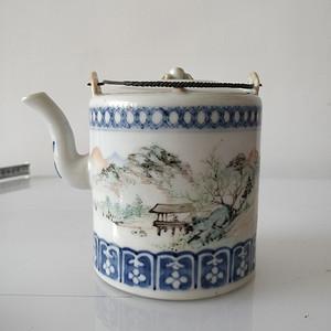 光绪汪友棠浅降彩茶壶