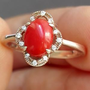 精品珊瑚戒指
