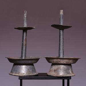 藏海淘 清供烛台一对 JZ335