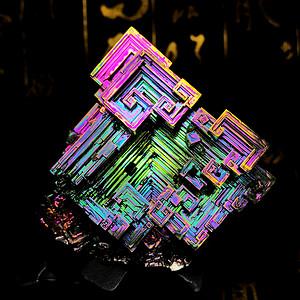 超低象征价起拍!原价6元克价稀有彩虹铋晶体高品质纯铋金属原石摆件