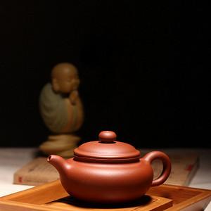 名家紫砂壶!国家级工艺美术师刘希老师古韵雅作原矿朱泥仿古壶